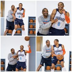 A pair of greats: Mo Cheeks and Russell Westbrook at practice. Us Cellular, Number 0, Russell Westbrook, Oklahoma City Thunder, Best Player, Nba, Basketball, Baseball Cards