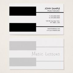 Music Piano Lessons Professional Teacher Business Card - stylish gifts unique cool diy customize