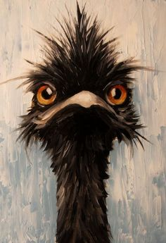"""Emu"" oil painting print by Elizabeth Barrett Printed on high quality gloss paper Welcome! My name is Elizabeth Barrett, painting has been a passion of mine since early childhood. I am a self taught and self representing artist. Painting People, Love Painting, Painting Prints, Painting & Drawing, Pelican Art, Drawn Art, Funny Birds, Animal Paintings, Bird Paintings"