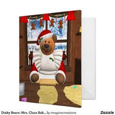 Dinky Bears: Mrs. Claus Baking Day Binder