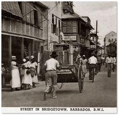 STREET IN BRIDGETOWN BARBADOS