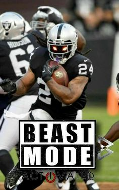 beast mode is full effect on the #Raiders O.