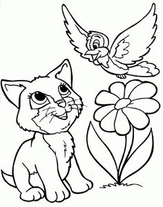 kitten coloring pages - Kids Colouring Pages To Print