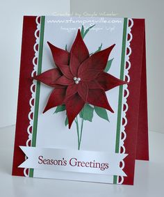 Create a Paper Poinsettia for Holiday Craft Projects