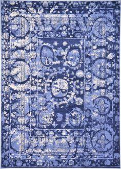 Blue Classic Tri-Color Area Rug