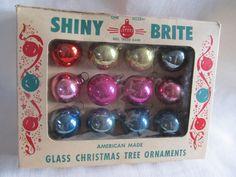 Vintage 1950's Shiny Brite Christmas Ornaments by AuntSuesVintage, $14.99
