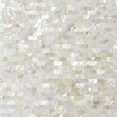Shop 12 x 12 Serene White Bricks Groutless Polished Pearl Shell Glass Tile in White at TileBar.com.