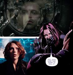 A long time ago, Natalia Romanova made me remember what it was to feel human. And they punished us both for that, in different ways. Fighting her now is like punishing myself all over again. - Bucky Barnes & Natasha Romanoff