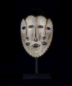 Nu in de #Catawiki veilingen: Big African Tribal Four Faced LEGA Bwami Society Mask.Democratic Republic of the Con...