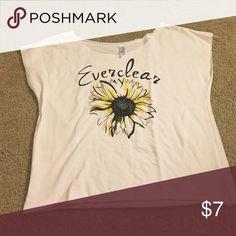 Small Sunflower Everclear Sleeveless Tee Small Sunflower Everclear Sleeveless Tee Tops Muscle Tees