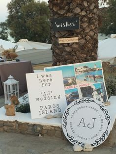Photobooth idea, PAros Greek wedding, banners, quotes, lafetegr, Greek weddings