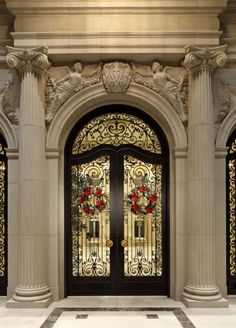 Grand Doors / Le Palais Des Anges, million dollar Mansion on Sunset Blvd. in Beverly Hills=love the wrought iron Grand Entrance, Entrance Doors, Doorway, Front Doors, House Entrance, Main Entrance, Cool Doors, Unique Doors, Beverly Hills