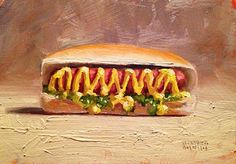 Daily Painting: Hot Dog 5x7