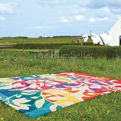 Make your home beautiful with Modern Rugs, the UK's biggest online Rug store. ✓ Shop over designs ✓ FREE DELIVERY ✓ Up to off area rugs. Go Green, Green Colors, Vibrant Colors, Colorful, Funky Rugs, Picnic Blanket, Outdoor Blanket, Clearance Rugs, Rug Store