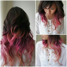 Mola Raxakoul - Burlingame, CA, United States. Ombre highlights! - mauve/lavender faded to pink