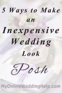 Ideas for making your inexpensive wedding look more upscale, like having a common color or pattern element throughout the reception and wedding. #MyOnlineWeddingHelp