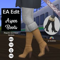 Sims 4 Mods Clothes, Sims 4 Clothing, Maxis, Play Sims 4, Sims 4 Anime, Sims 4 Cc Shoes, Sims 4 Mm Cc, Cold Weather Boots, Sims 4 Cas