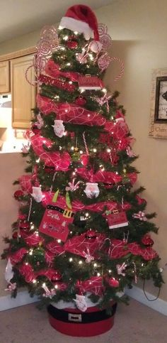 Our 2012 Santa Themed Christmas tree
