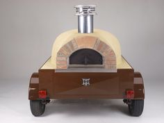 Mobile Wood Fire Pizza Oven - Tailgate Rear - a young couple in my area has this, they go around to markets, fairs etc.