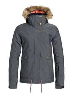 Roxy Anthracite Grove Womens Snowboarding Jacket L  ecbc1759c