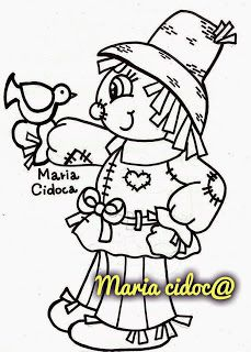 Riscos graciosos (Cute Drawings): Riscos de espantalhos (Scarecrows)
