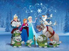 Frozen photo wall mural