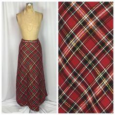 Holiday Red Tartan Amp Gold Metallic Plaid Velvet Trim Hostess Skirt 12   eBay