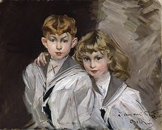 The two children, Giovanni Boldini  Size: 81x65 cm  Medium: oil, canvas
