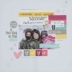 Layout by Megan using Elle's Studio February exclusives!
