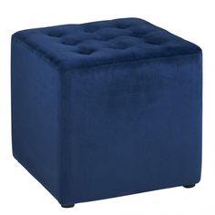 Taburetka čalúnená Brigita - 1 Freedom Furniture, Fabric Ottoman, Home Living Room, Design, Home Decor, Blue Grey, Dark Blue, Foot Stools, Extra Seating