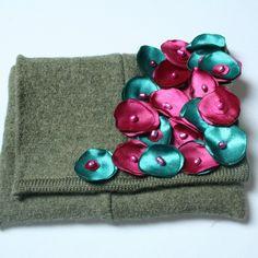 Zielona Mini Kopertówka z Recyklingu - Torebki kopertówki - Torby i torebki