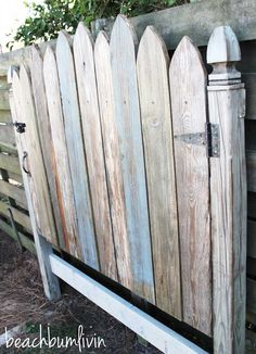 Rustic Headboard from Reclaimed Wood — BeachBumLivin | Awesome DIY Furniture Project Ideas | Tutorials on distressing, antiquing, and building