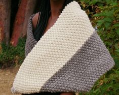 Natural Chunky Knit Hand Spun Wool Blankets and More! Wool Scarf, Wool Blanket, Knitted Shawls, Womens Scarves, Knits, Crochet Top, Infinity, Purses, Trending Outfits