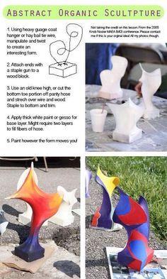 Diy Art Sculpture Creative 33 Ideas For 2019 Sculpture Lessons, Sculpture Projects, Sculpture Art, Organic Sculpture, Abstract Sculpture, Sculpture Ideas, Sculpture Garden, Bronze Sculpture, Arte Elemental