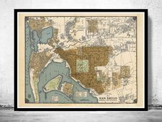 Old map San Diego California 1920 - product image