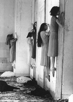 aha! I was trying to place that American Horror Story promo imagery..it's Pina Bausch, Blaubart, 1977 (performance still). S)