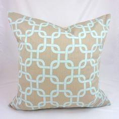 Designer Pillow Cover in Gotcha Powder Blue