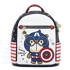 Captain America backpack- ΤΣΑΝΤΑ ΠΛΑΤΗΣ