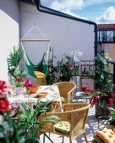 small balcony that efficiently uses every square inch of space