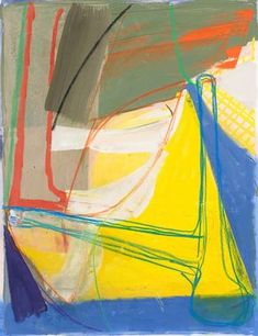 """Amy Sillman, """"Untitled (#2)"""", 2008, Gouache, chalk and pencil on etching on paper, 34"""" x 28"""" paper size"""