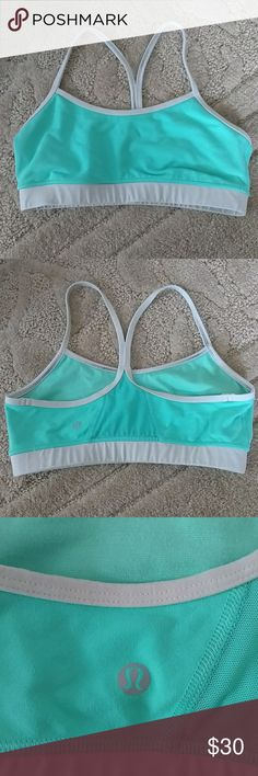 Lululemon Flow Y Bra Cute seafoam green flow y bra. No flaws! Doesn't have padding in it at the moment, but it can be included, just let me know! lululemon athletica Intimates & Sleepwear Bras