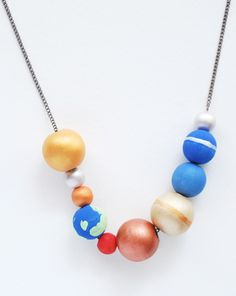 Wear the entire solar system around your neck with an out-of-this world DIY jewelry project!