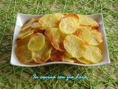 Patate+chips+al+forno+ricetta+light