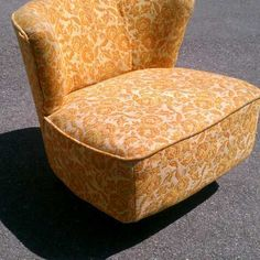 Nothing more fun than a vintage slipper chair