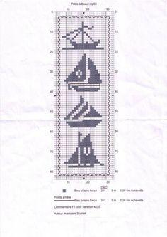 Sailing, knitting crochet beads etc Cross Stitch Sea, Cross Stitch Bookmarks, Cross Stitch Flowers, Filet Crochet Charts, Knitting Charts, Funny Cross Stitch Patterns, Cross Stitch Designs, Sewing Art, Loom Beading