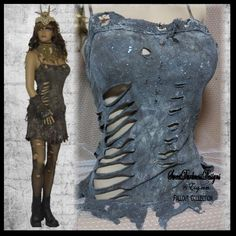 Post Apocalyptic TOP BROWN TATTERED Distressed Top Grunge Fallout Wasteland Apparel Zombie Costume Mad Max Clothing by SweetDarknessDesigns by SweetDarknessDesigns on Etsy