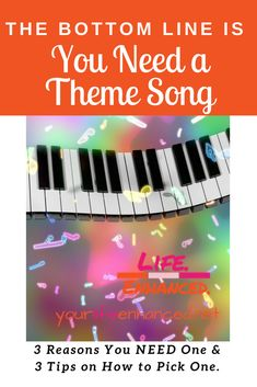 the bottom line is you need a theme song. 3 reasons you need a theme song and 3 tips for picking the right theme song for you 3 In One, Pick One, Are You The One, Positive Living, Theme Song, Workplace, Coaching, Challenges, Positivity