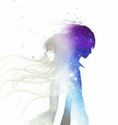 girl illustration art anime couple I can see a story behind this :) Manga Anime, Sad Anime, I Love Anime, Awesome Anime, Manga Art, Anime Crying, Anime Love Couple, Manga Couple, Art And Illustration