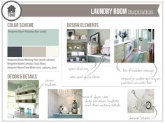 Laundry Room Inspiration Board