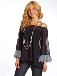 2 Tee Couture Sheer Top Black | All Decd Out